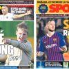 2019年2月13日(水)のバルセロナスポーツ紙:チャンピオンズ再開