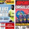 2019年2月15日(金)のバルセロナスポーツ紙:ウンティティと年間クレ賞