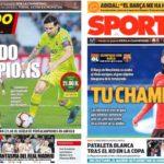 2019年2月19日(火)のバルセロナスポーツ紙:チャンピオンズ・いざリヨン決戦