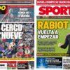2019年2月21日(木)のバルセロナスポーツ紙:9番候補とラビオ