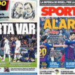 2019年2月26日(火)のバルセロナスポーツ紙:VARに気をつけろ