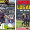2019年2月28日(木)のバルセロナスポーツ紙:ベルナベウ攻略でコパ決勝へ