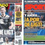 2019年3月07日(木)のバルセロナスポーツ紙:次はデ・リフトとか