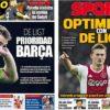 2019年3月11日(月)のバルセロナスポーツ紙:デ・リフトはバルサに傾く?