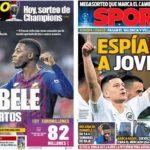 2019年3月15日(金)のバルセロナスポーツ紙:さあチャンピオンズ抽選会