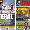 2019年3月22日(金)のバルセロナスポーツ紙:ラテラル補強とコウチーニョ去就