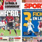 2019年3月26日(火)のバルセロナスポーツ紙:ウワサに花咲く代表戦週間