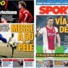 2019年4月01日(月)のバルセロナスポーツ紙:メッシの記録とデ・リフト