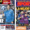 2019年4月08日(月)のバルセロナスポーツ紙:スアレスが牙を研ぐ
