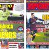 2019年4月10日(水)のバルセロナスポーツ紙:いざ、マンチェスター決戦