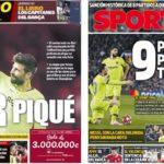 2019年4月12日(金)のバルセロナスポーツ紙:ピケと三冠