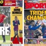 2019年4月15日(月)のバルセロナスポーツ紙:CLとタイガー