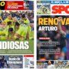 2019年4月22日(月)のバルセロナスポーツ紙:バルサ女子、CL決勝まであと一歩!