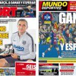 2019年4月23日(火)のバルセロナスポーツ紙:勝って、優勝の時を待つ!
