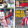 2019年5月15日(水)のバルセロナスポーツ紙:グリースマン退団へ