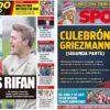 2019年5月16日(木)のバルセロナスポーツ紙:今日もまたグリースマン