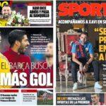2019年5月21日(火)のバルセロナスポーツ紙:チャビが現役引退