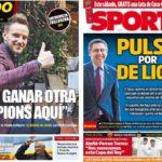 2019年5月22日(水)のバルセロナスポーツ紙:ラキティッチとデ・リフト