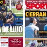 2019年5月24日(金)のバルセロナスポーツ紙:コパ決勝に向け団結