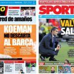 2019年5月29日(水)のバルセロナスポーツ紙:引き続きバルベルデの去就
