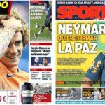 2019年5月31日(金)のバルセロナスポーツ紙:ネイマールとグリースマンと