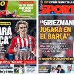 2019年6月13日(木)のバルセロナスポーツ紙:「グリースマンはバルサで・・・」