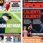 2019年6月18日(火)のバルセロナスポーツ紙:ネイマール作戦、熱く