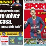 2019年6月19日(水)のバルセロナスポーツ紙:引き続きネイマール