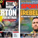 2019年6月20日(木)のバルセロナスポーツ紙:ネイマール話は続く
